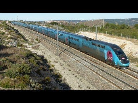 high-speed train (TGV) on the LGV Med!
