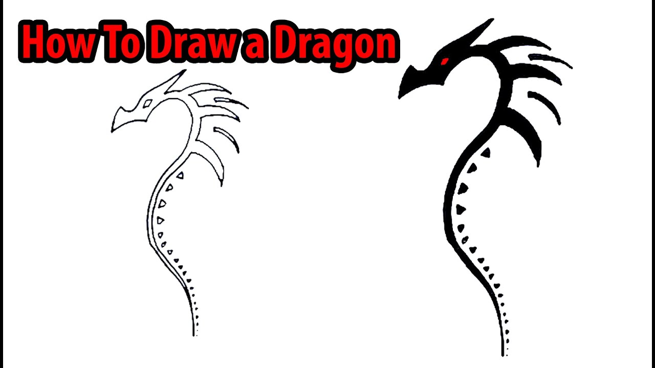 How To Draw A Dragon #howtodraw #forkids How To Draw A Dragon Hd Images