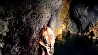 Ponza Italy  City pictures : Exploring Ancient Roman Sea Caves near Ponza Island, Italy.