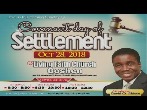 Covenant Day Of Settlement (1st Service) October 28, 2018