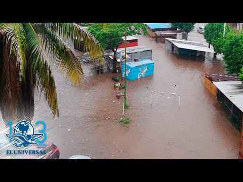 Lluvias torrenciales inundan Villahermosa, Tabasco