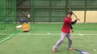 「ラケットの面を使って、バッティングにおける右手、左手の動かし方」(ブリスフィールド東大阪 平下コーチ(元阪神タイガース))