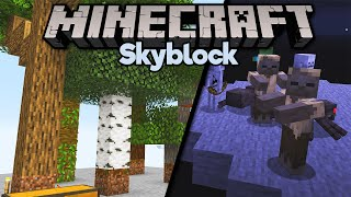 Farming Sand in Skyblock & All Wood Types! • Minecraft 1.15 Skyblock (Tutorial Let's Play) [Part 6]