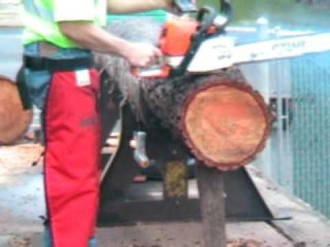 The chainsaw guy log testing Stihl MS 390