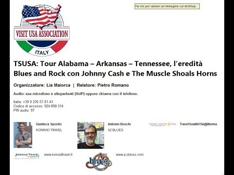 Video TSUSA: Tour Alabama – Arkansas – Tennessee, l'eredità Blues and Rock con Johnny Cash e The Muscle Shoals Horns (6-2-2018)
