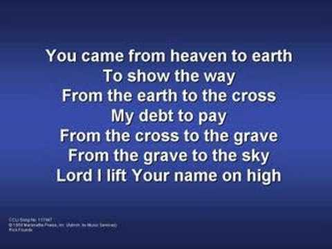 Lord I Lift Your Name On High Praise And Worship Songs