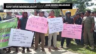 Video Aksi Gempar Desak DPRK Makzulkan Bupati Simeulue
