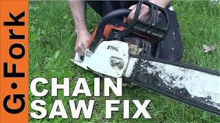 Chainsaw Wont Start  Chainsaw Repair How To   Gardenfork