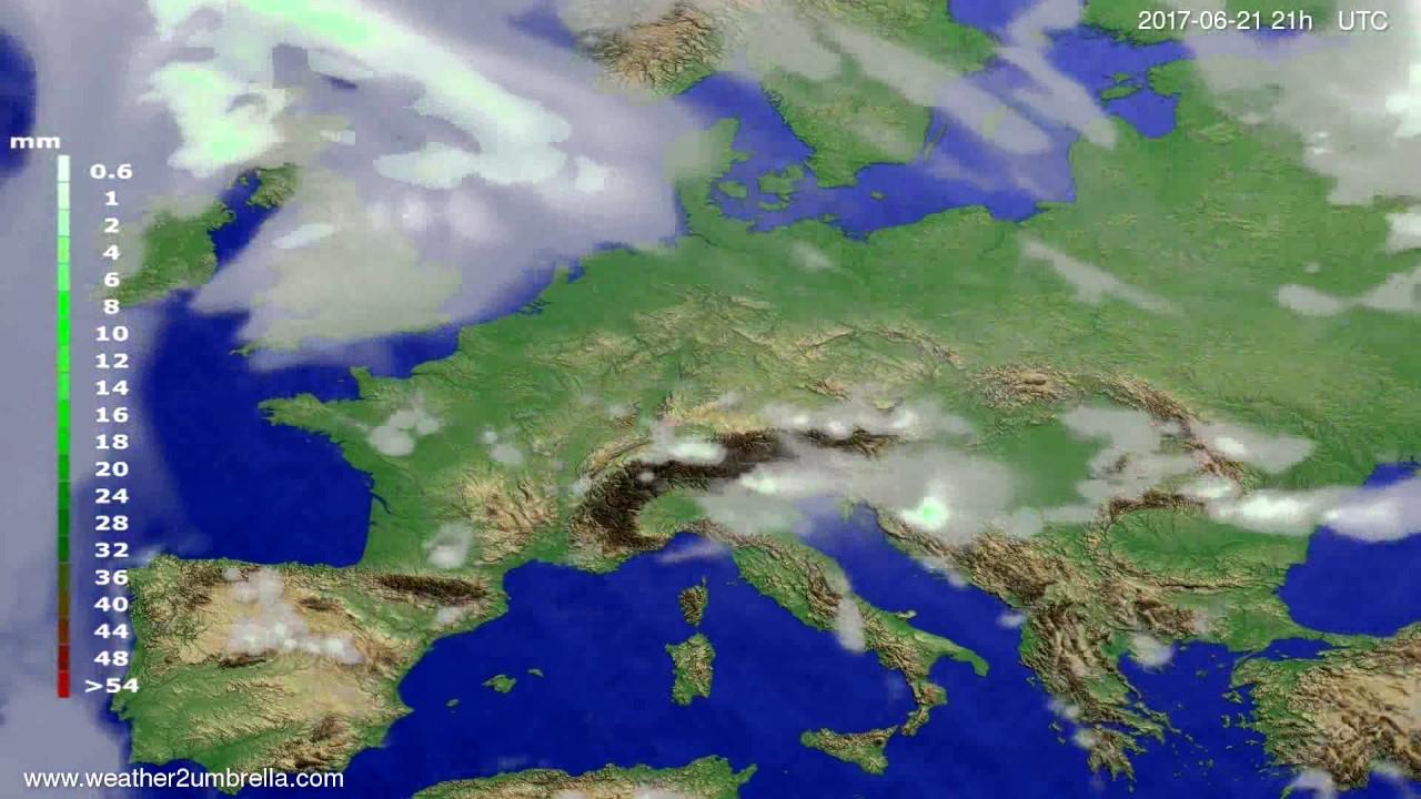 Precipitation forecast Europe 2017-06-18