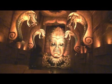 on ride - Full Ride and Queue Walk-Through of the Indiana Jones Adventure at Disneyland in Anaheim, California, USA.