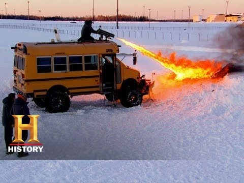 Top Gear: Adam Eliminates Snow With A Flamethrower | History