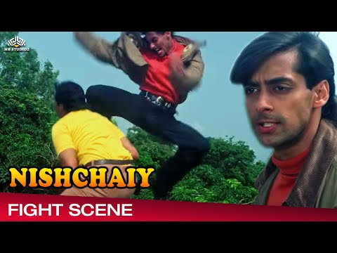 Salman Khan Fight Scene From Nishchaiy निश्चय 1992,Hindi Drama Movie