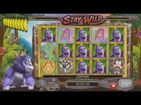 Gorilla Go Wild Slot - Stay Wild Fearure - Mega Big Win - 1542x Bet