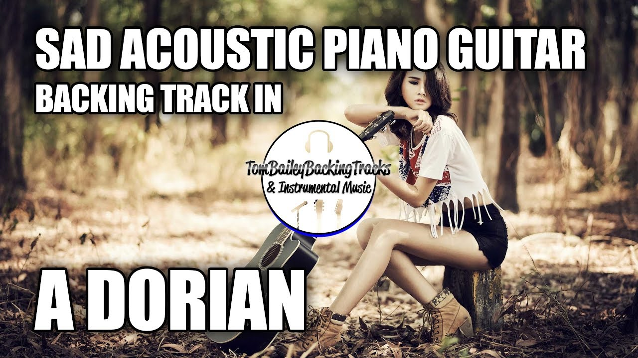 Sad Acoustic Piano Guitar Backing Track In A Dorian | Far From Here