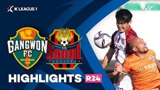 [하나원큐 K리그1] R24 강원 vs 서울 하이라이트 | Gangwon vs Seoul  Highlights (21.10.24)