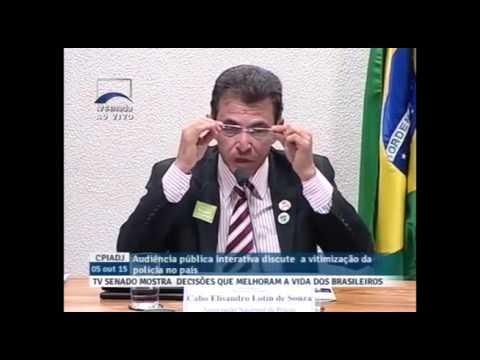 Brasil vive guerra civil não declarada, afirma presidente da Anaspra em CPI