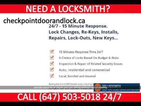 Locksmith in Concord | http://checkpointdoorandlock.ca | (647) 503-5018