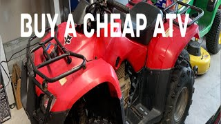 9. Buy A Cheap ATV Honda Recon 250