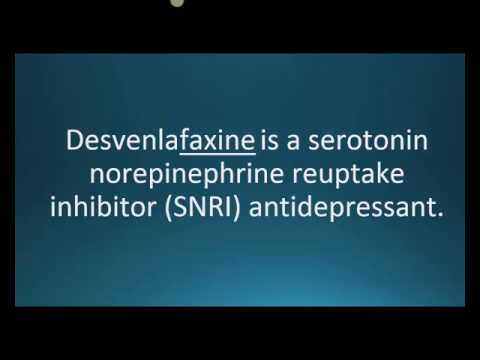 How to pronounce desvenlafaxine (Pristiq) (Memorizing Pharmacology Flashcard)
