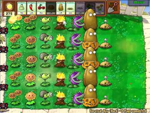 Plants vs Zombies - Survival Day (Hard) - Part1
