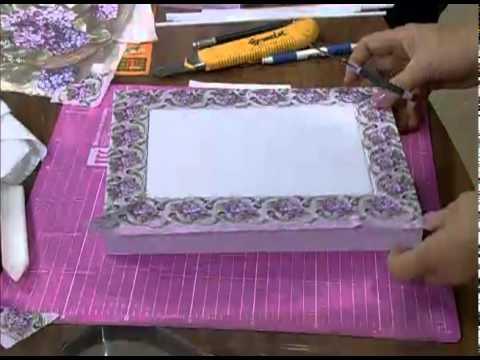 Mulher.com 22/07/2011 - Decoupage com guardanapo em caixa
