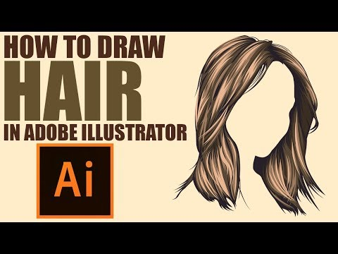 How To Draw Vector HAIR Adobe Illustrator Tutorial