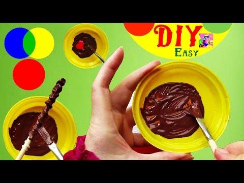 DIY Brown color. How To Mix The Colors - Paint | Коричневый цвет. Смешиваем краски