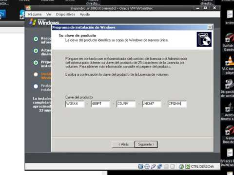 Instalar Windows server 2003