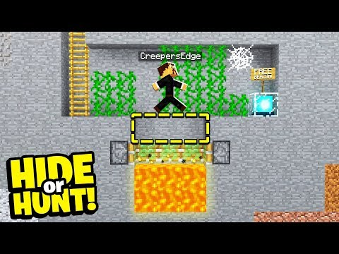 discovering a SECRET Minecraft base with a FALL TRAP! - Hide Or Hunt #3