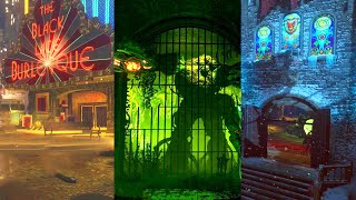 BLACK OPS 3 ZOMBIES: All Easter Eggs Completed in One Stream!