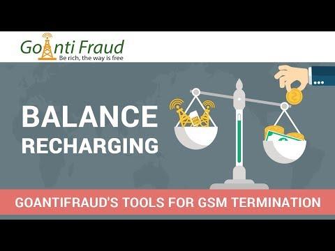 Profitable Termination of Calls via GoAntiFraud: Top-up of SIM-cards