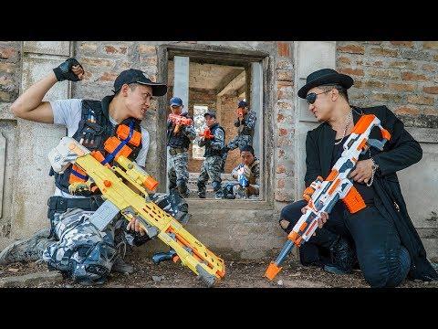 Nerf Guns War : Police Men Of SEAL TEAM Special Brave Attack Black Leader Dangerous Criminal Group