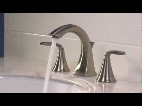 Installing A 8″ – 15″ Widespread Bathroom Faucet With A Push & Seal Drain – Pasadena Collection