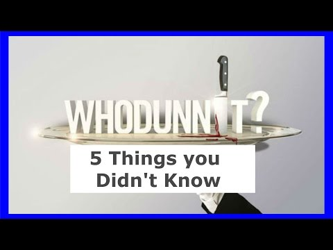 Whodunnit? Season 1   -5 Things You Didn't Know