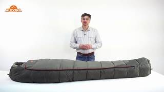 Спальник-одеяло шириной 1 метр для кемпинга и туризма. Alexika Siberia Wide