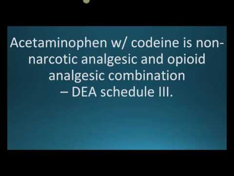 How to pronounce acetaminophen with codeine (Tylenol 3)  (Memorizing Pharmacology Flashcard)