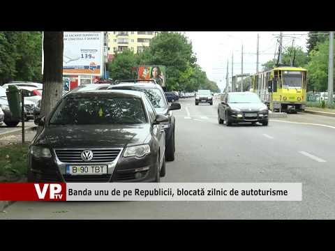 Banda unu de pe Republicii, blocată zilnic de autoturisme