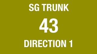 Download Lagu Singapore Go-Ahead Trunk Bus 43 (Direction 1) Hyperlapse Mp3