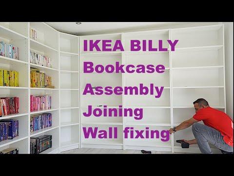 IKEA BILLY Bookcase assembly, joining BILLY Bookcase and wall fixing of Ikea BILLY Bookcase
