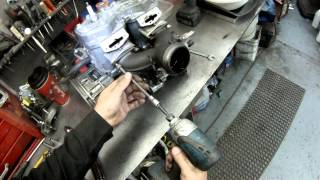 6. ski-doo 600cc twin rebuild part 1, Y pipe,starter,raves removal