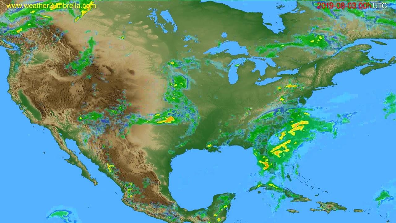 Radar forecast USA & Canada // modelrun: 12h UTC 2019-08-02