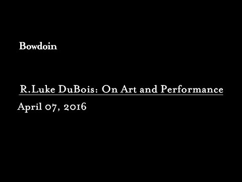 R. Luke Dubois: On Art and Performance by Matthew McLendon