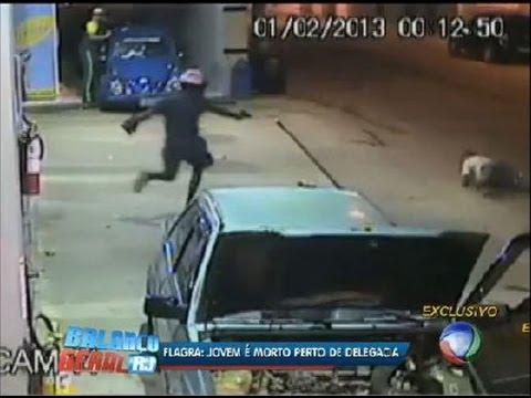 Flagrante: homem é assassinado em posto de gasolina em Itaperuna (RJ)