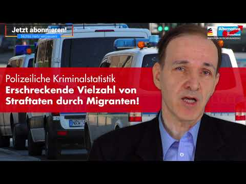 Der Innenpolitische Sprecher der AfD-Fraktion, Dr. Gottfried Curio, erläutert die aktuelle Polizeiliche Kriminalstatistik.