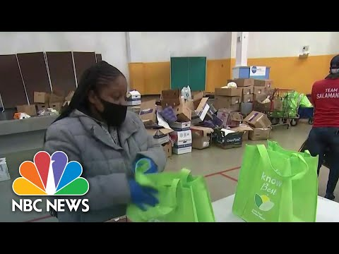 Long Lines Form At Food Banks Ahead Of Thanksgiving | NBC Nightly News