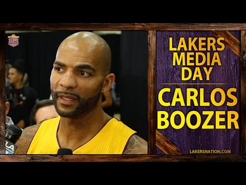 lakers - Los Angeles Lakers' Carlos Boozer talks about playing alongside Kobe Bryant in the summer Olympics and mentoring Julius Randle. Join the Largest Lakers Fan Site in the World http://LakersNation.co...