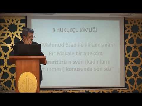 Tuncer Namlı - Düşünür Mahmut Esad Seydişehri