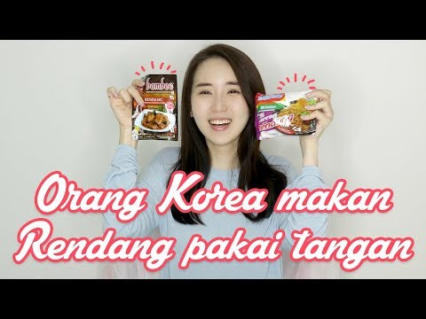 Rendang Dimasak Resep Spesial Korea Rendang No.1 Food In A World 인도네시아 른당 손으로 먹방 !
