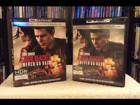 Jack Reacher: Never Go Back 4K BLU RAY UNBOXING and Review
