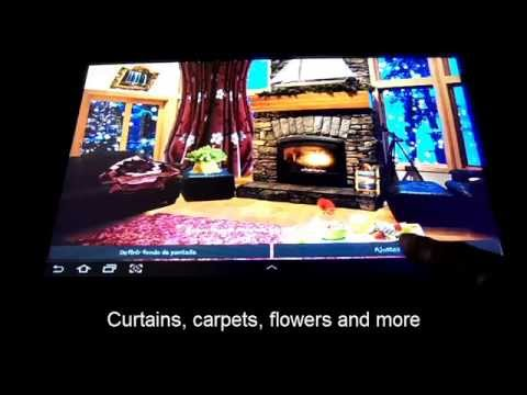 Video of Romantic Fireplace LWP